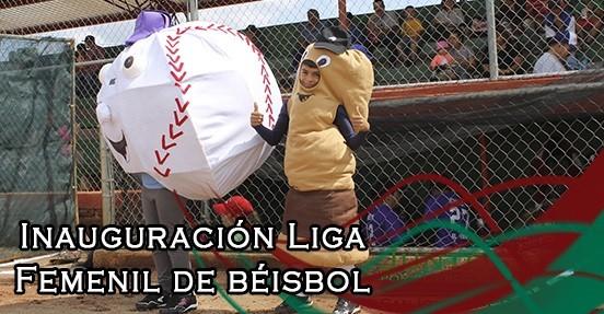 Inauguración de liga Regional femenil de béisbol